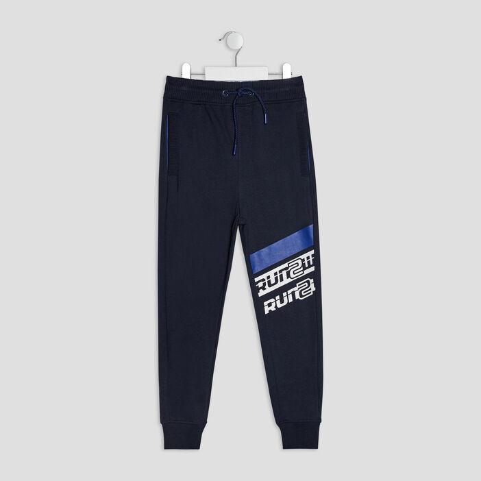 Pantalon jogging garçon bleu marine