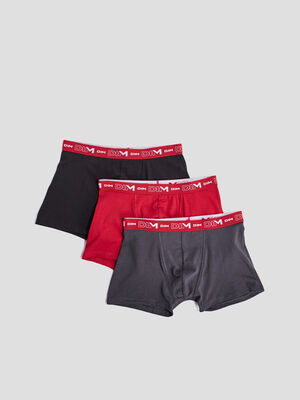 Lot 3 boxers DIM rouge homme