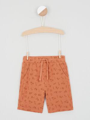 Short Bermuda orange fonce garcon