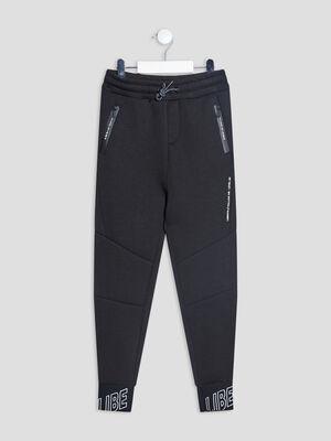 Jogging droit noir garcon