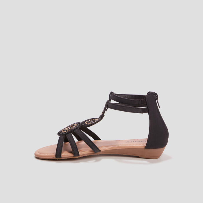 Sandales à strass Liberto fille noir