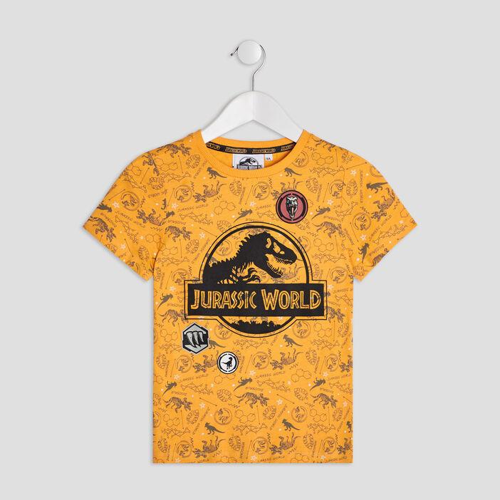 T-shirt Jurassic Park garçon jaune moutarde
