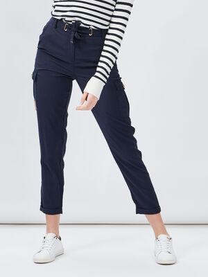 Pantalon bleu marine femme