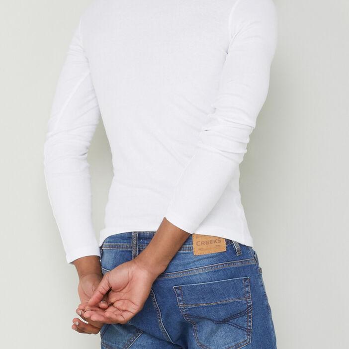 T-shirt en coton uni homme blanc
