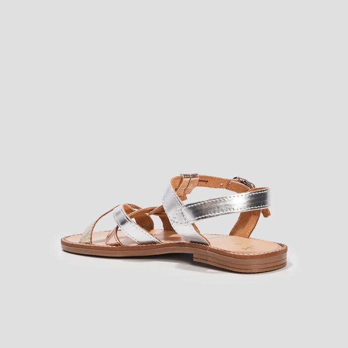 Sandales plates fille multicolore