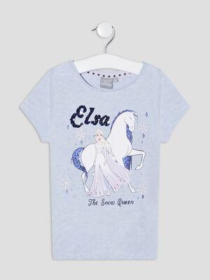 T shirt La Reine des neiges 2 bleu fille