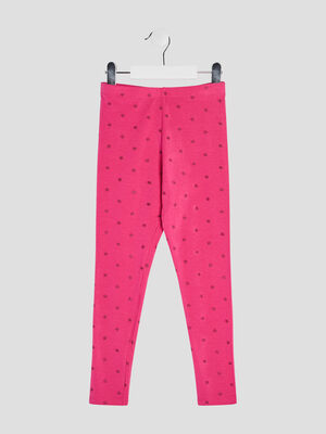 Legging rose fushia fille