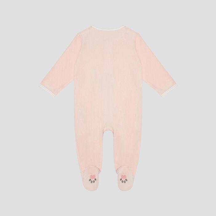 Dors-bien détails brodés bébé fille rose
