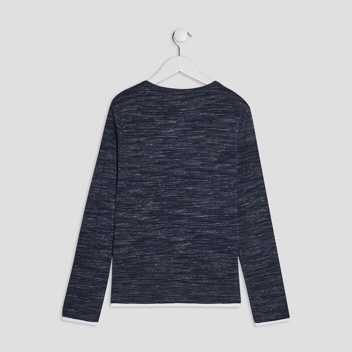 T-shirt manches longues Creeks garçon bleu
