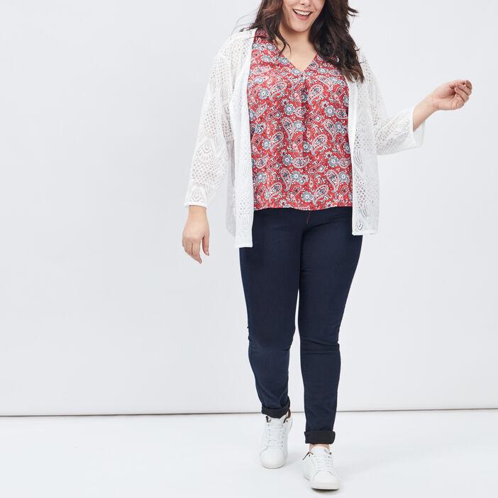 Jeans slim grande taille femme grande taille denim brut