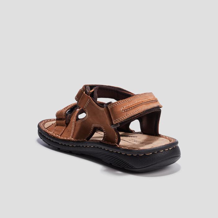 Sandales à scratchs Trappeur homme taupe