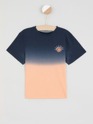 T shirt tie and dye bleu marine garcon