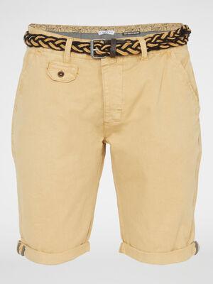 Bermuda short beige homme