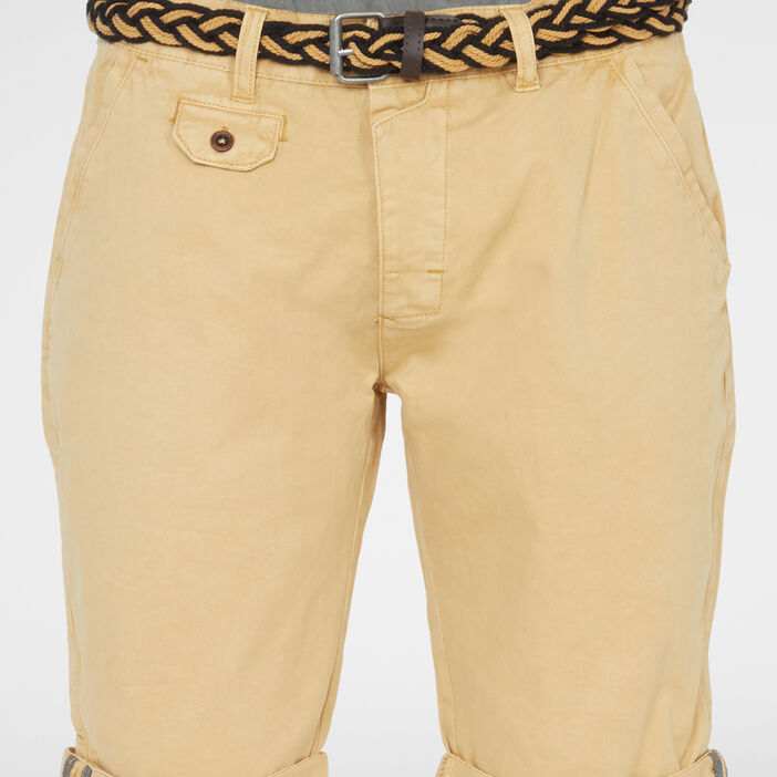 Bermuda, short homme beige