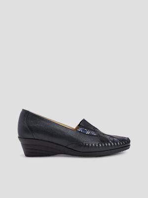 Chaussure sans lacets noir femme