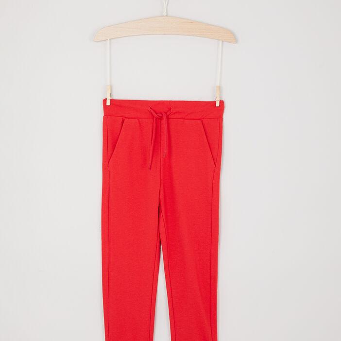 Jogging uni poches italiennes garçon rouge