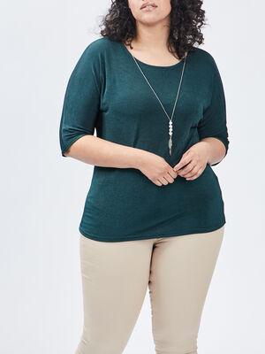 T shirt grande taille vert femmegt