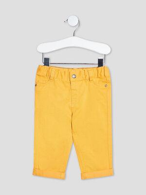 Pantalon droit taille ajustable jaune moutarde bebeg