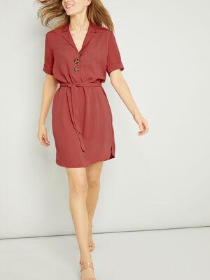 Robe rose framboise femme