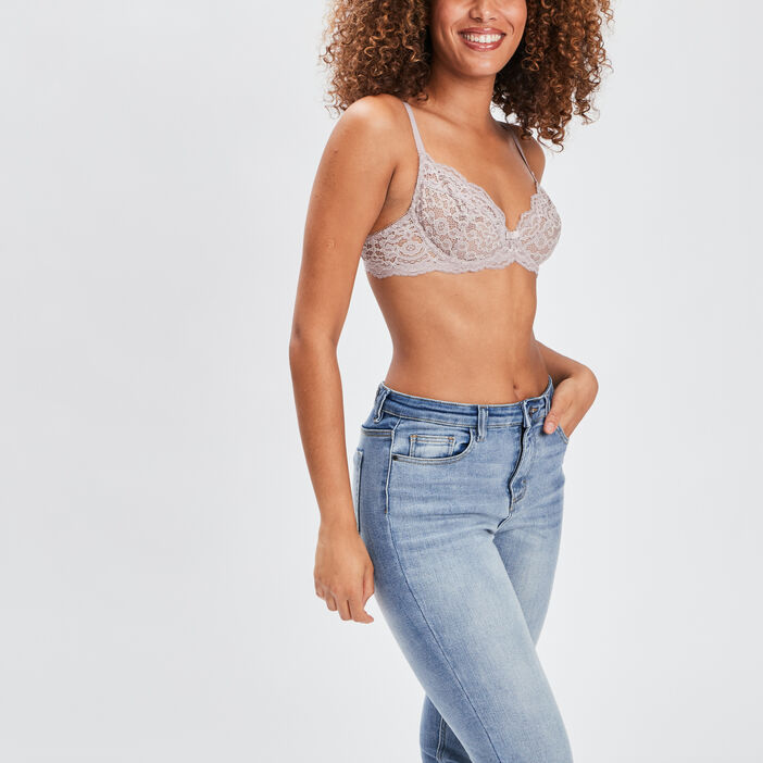 Soutien-gorge triangle femme taupe