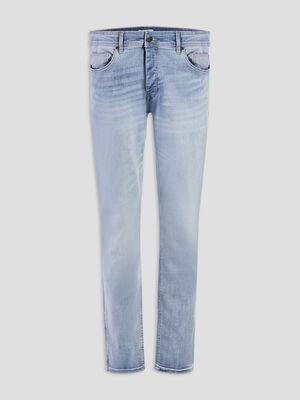 Jeans slim effet delave denim bleach homme
