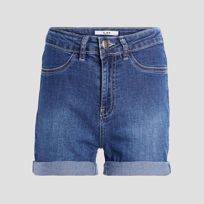 Short slim en jean femme denim double stone