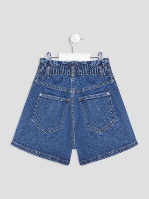 Short mom taille haute en jean denim dirty fille