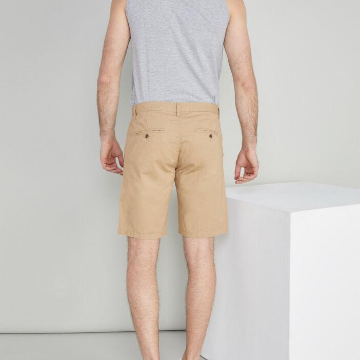 Bermuda droit homme beige