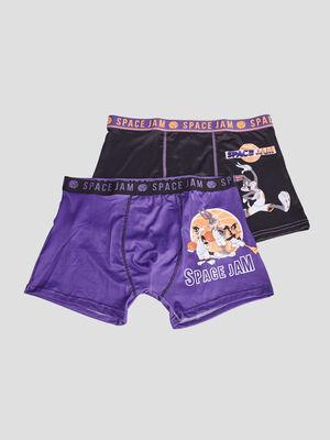 Lot 2 boxers Space Jam multicolore homme