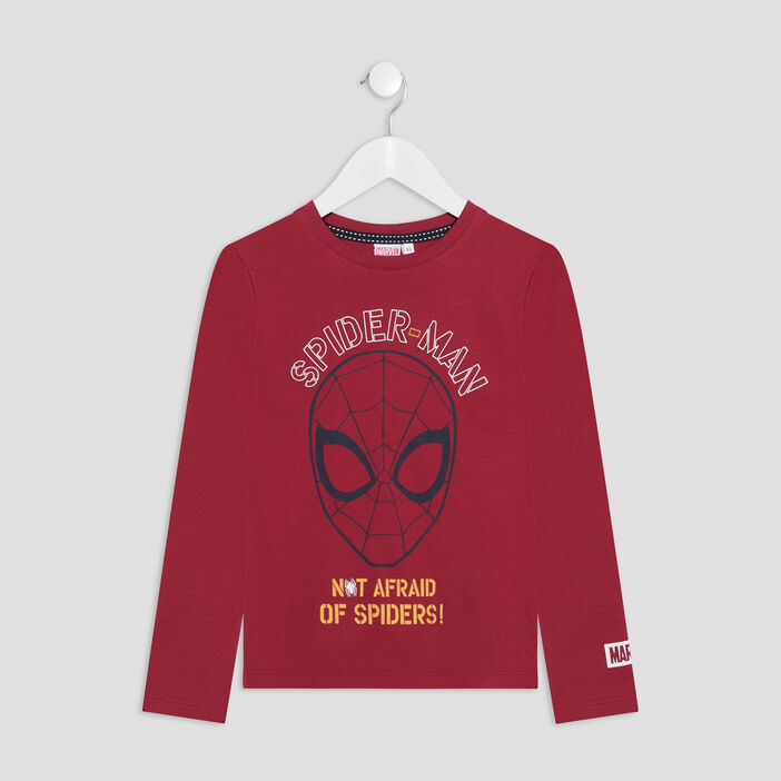 T-shirt Spider-Man garçon bordeaux