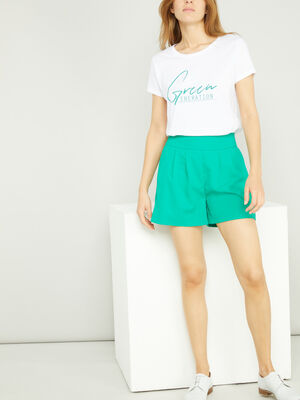Short Bermuda vert femme