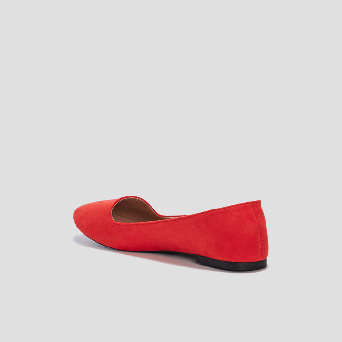 Ballerines esprit mocassins femme orange corail