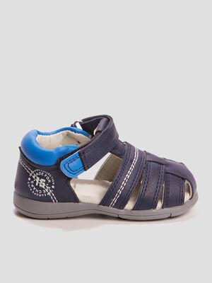 Sandales Pat et Ripaton bleu bebeg