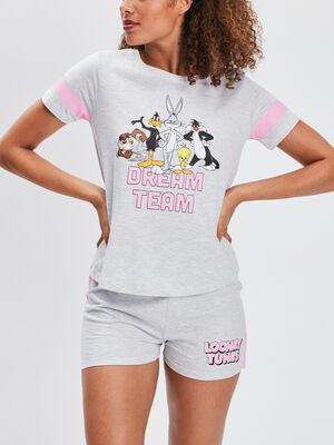 Ensemble pyjama Looney Tunes gris femme