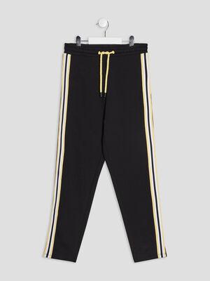 Pantalon jogging slim noir fille