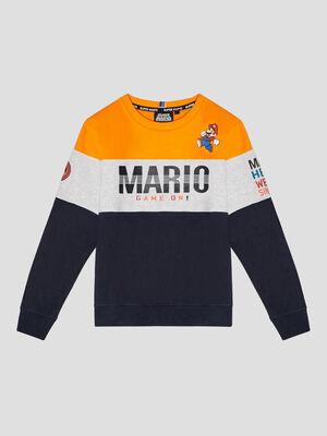 Sweat manches longues Mario multicolore garcon