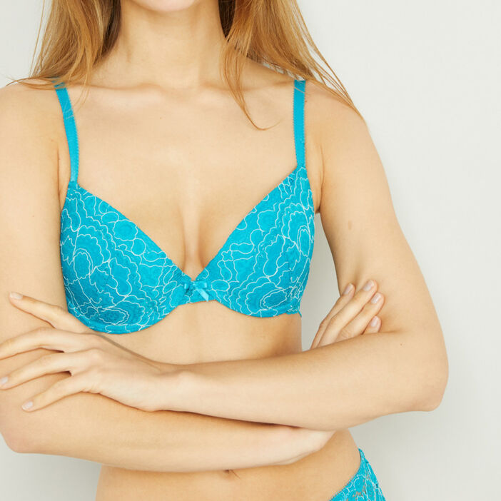 Soutien gorge corbeille ROSITA femme bleu turquoise