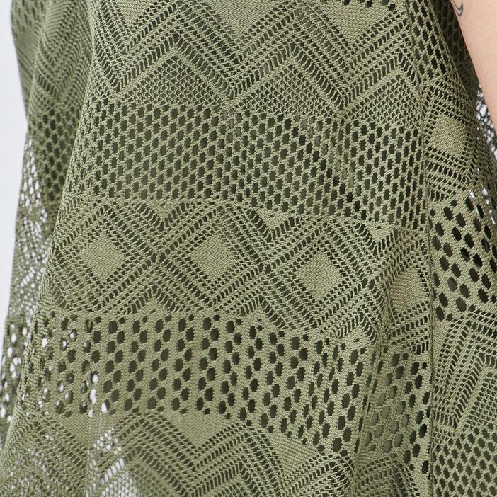 Débardeur bretelles fines femme vert kaki