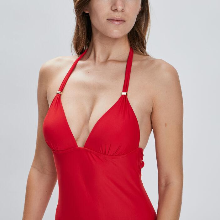 Maillot de bain une pièce femme rouge