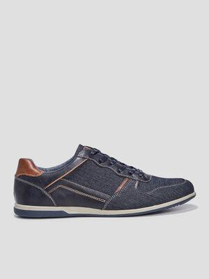 Sneakers en jean bleu homme