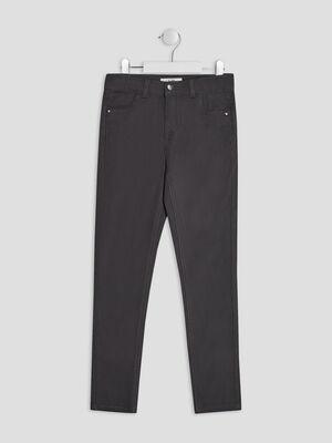 Pantalon skinny gris fonce fille