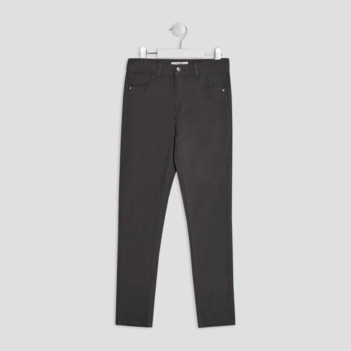 Pantalon skinny fille gris foncé