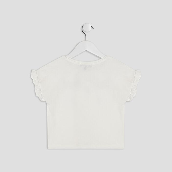 T-shirt Liberto fille ecru