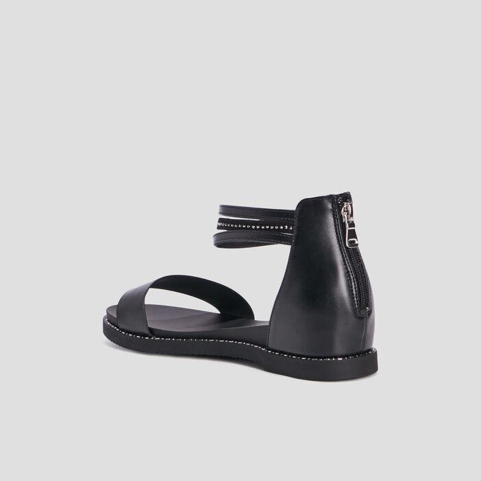 Sandales plates Liberto femme noir