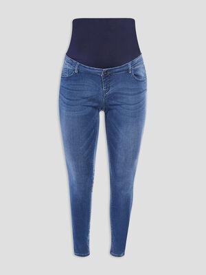 Jeans skinny de grossesse denim brut femme