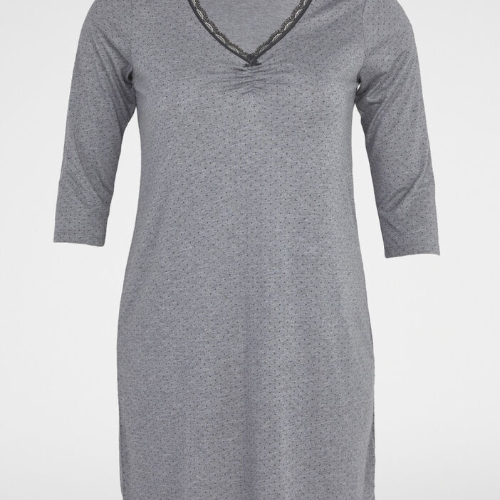 Chemise de nuit femme grande taille gris foncé