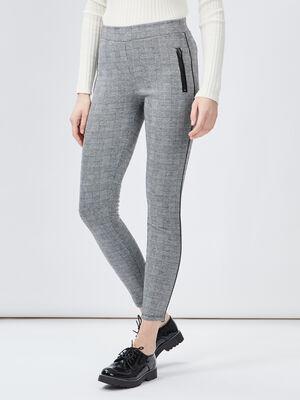 Pantalon legging ecru femme