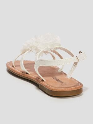 Sandales a froufrous Liberto blanc fille