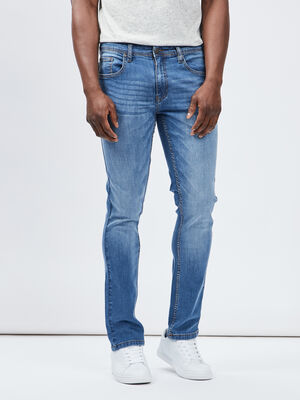 Jeans slim effet use denim double stone homme