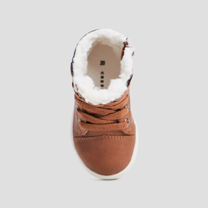 Baskets montantes Creeks bébé garçon marron